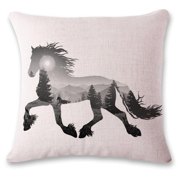 Linen Pillowcase Reactive Printing Animal