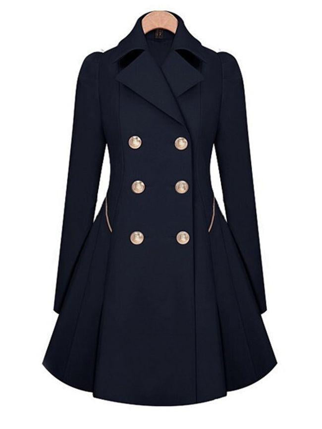 Appealing Pleated Lapel Breasted Trench Coats
