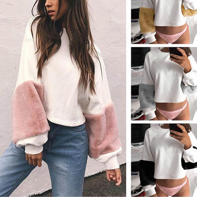 Loose Cute Plush Long Sleeve Shirt