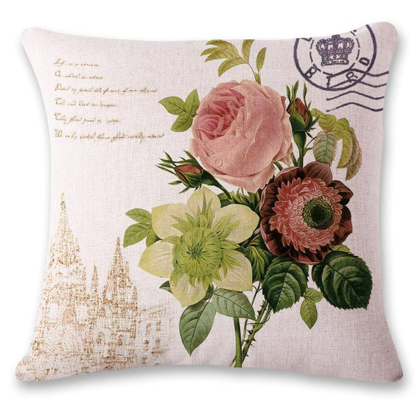 Linen Pillowcase Floral