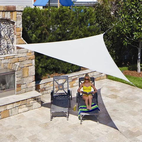 Triangle Awning Shade Camping Tent Waterproof Triangle Awning Shade Sail Sun Outdoor Sun Shelter Shade Sail Garden Patio Pool Camping Picnic Tent