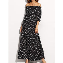 Load image into Gallery viewer, Sexy Off Shoulder Half Sleeves Maxi Dress