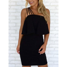 Load image into Gallery viewer, Strapless Backless Flounce Plain Sleeveless Bodycon Dresses