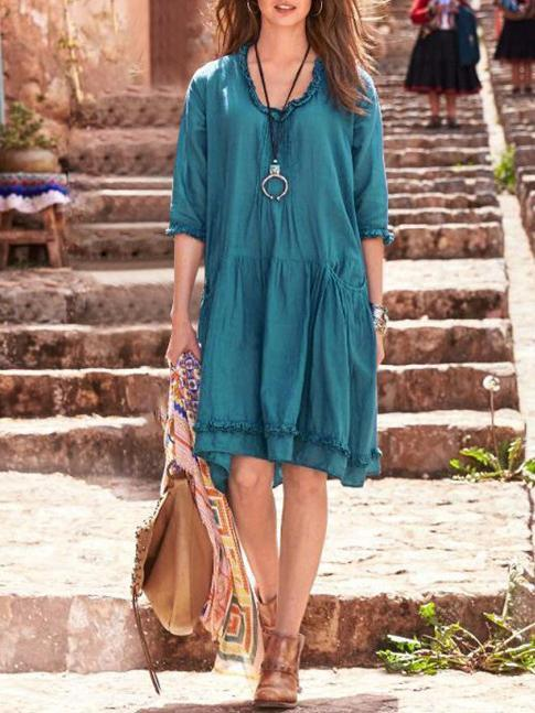 Plus Size Loose Pressure Pleated Lace Cover-ups Swimwear