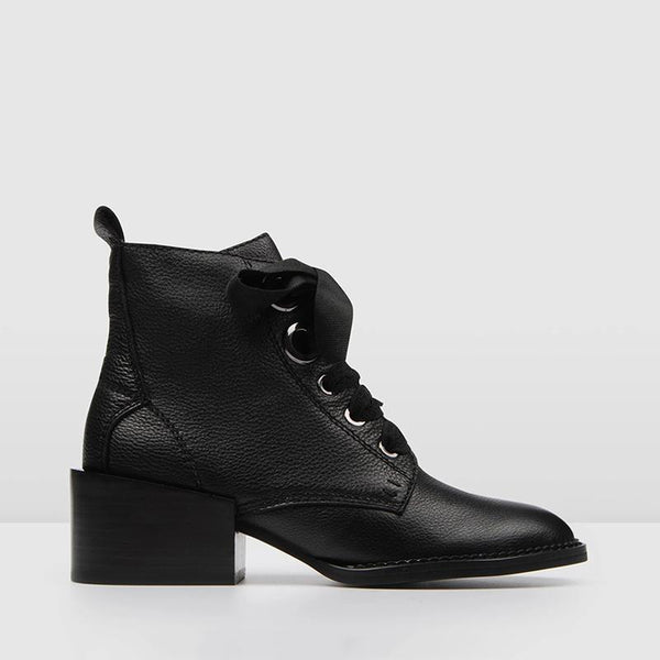 Women's Fashion Solid Color Martin Ankle Boots