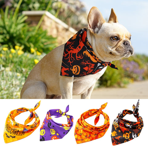 Dog Halloween Collar Bandana Halloween Pet Neckerchief Scarf Neck Scarf for Medium Dogs Cats Grooming Accessories for Pets