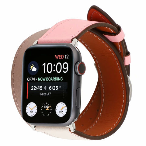 Apple Watch Leather Double Tour Watchband