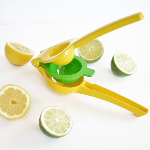 EBUYTIDE High Quality Enameled Aluminum Double Bowl Lemon Squeezer, Manual Citrus Press Juice