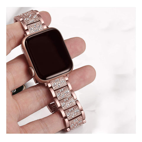Apple Watch Stainless Diamond Watchband