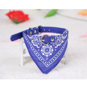 Hot 1Pc Adjustable Pet Dog Puppy Cat Neck Scarf Bandana with Collar Neckerchief Pet Products for Small animal lovers