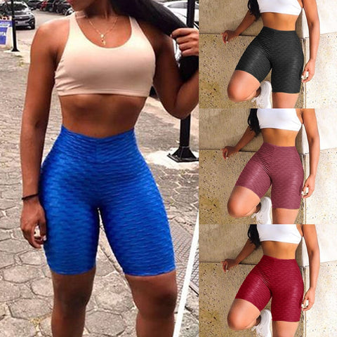 EBUYTIDE Workout Running Leggings Athletic Wear Women High Waist Yoga Shorts Tummy Control Fitness Gym Sports Trouser