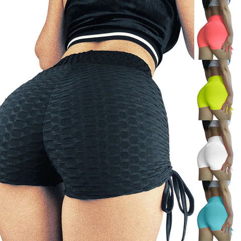 EBUYTIDE Shorts Women Sexy Push Up Fitness Short Legging High Waist Gym Running Tight Sportswear Yoga Shorts With Bows Underwear