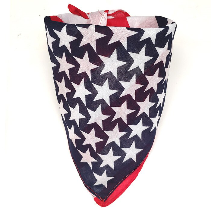 New Pet Dog Bandana Red White Blue Dog Soft Cotton Bandana Scarf Large Square Scarf For Middle Large Dog Bandana Collar Supplier