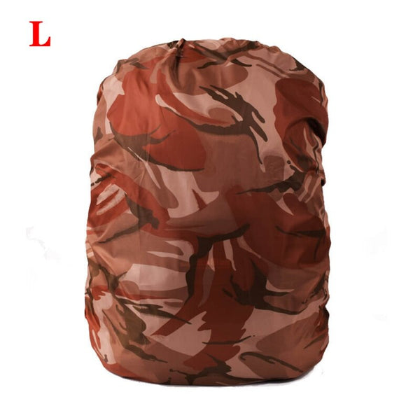 Portable Camouflage Backpack Cover Waterproof Rainproof Rain Rucksack Pack Dustproof Cover For Travel Camping Outdoor Climbing