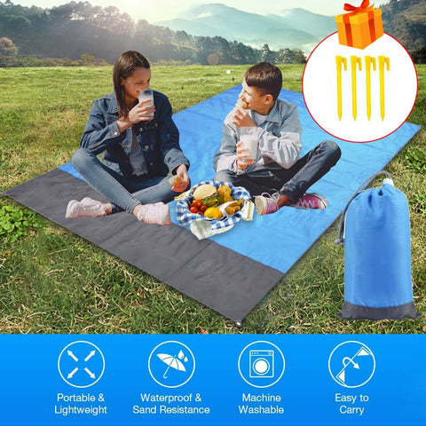 Portable Camping Mat Picnic Ground Mat Mattress Tablecloth Outdoor Waterproof Beach Blanket Outdoor Camping Picnic Mat Blanket