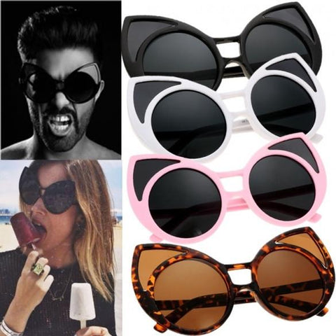 Unisex Cute Animal Shape Round Plastic Frame Casual Outdoor Sunglasses