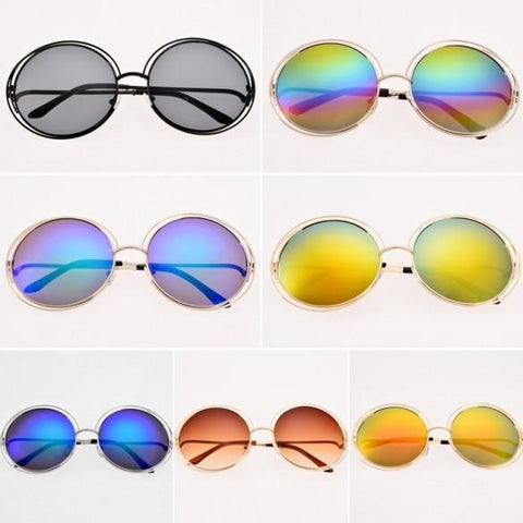 Women Retro Style Casual Round Eyewear Sunglasses