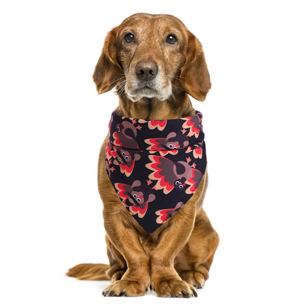 Thanksgiving Pet Dog Bandana Pet Washable Scarf Printing Handkerchief Bibs For Thanksgiving Pet Accessories for Dogs Scarf