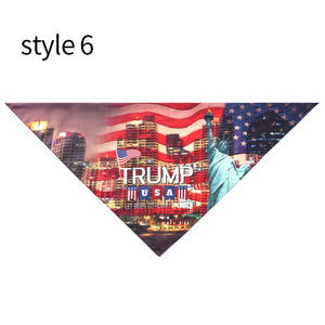 USA President Donald Trump 2020 Dog Bandanas Large Polyester Blends Biden Pet Scarf Washable Pet Accessories Keep America Great