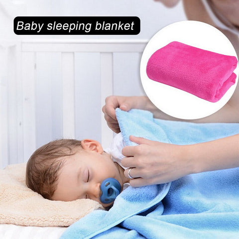 70x100cm Super Warm Solid Warm Micro Plush Fleece Blanket Baby Sleeping Throw Blankets Sofa Bedding Throw Rug Sofa Bedding
