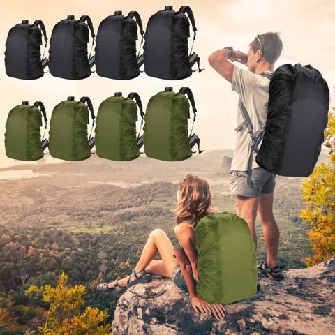 Waterproof Backpack Rain Cover Climbing Knapsack Raincover with Storage Bag Outdoor Bags Black and Amy Green Bag Rain Cover