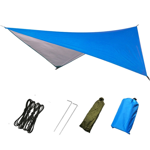 Waterproof Sun Shelter Ultralight Tarp Anti UV Beach Tent Shade Camping Hammock Rain Fly Camping Sunshade Awning Canopy