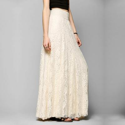 Lace Long Fluffy Net Women's Skirt