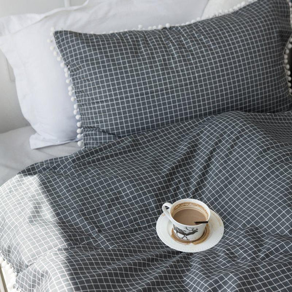 Cotton Reactive Printing Pillowcase Plaid