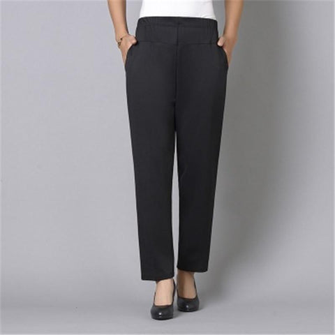 Casual Simple Pocket Wide Leg Women's Pants