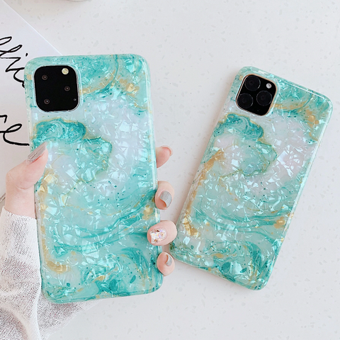 Glossy Marble Waves Phone Case
