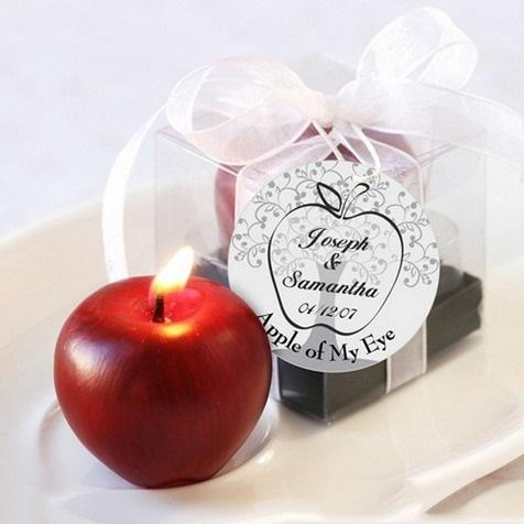 Red Apple Wedding Candle