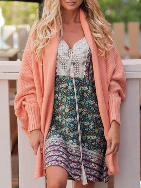 Fashion Knitted Bat Sleeve Cardigan