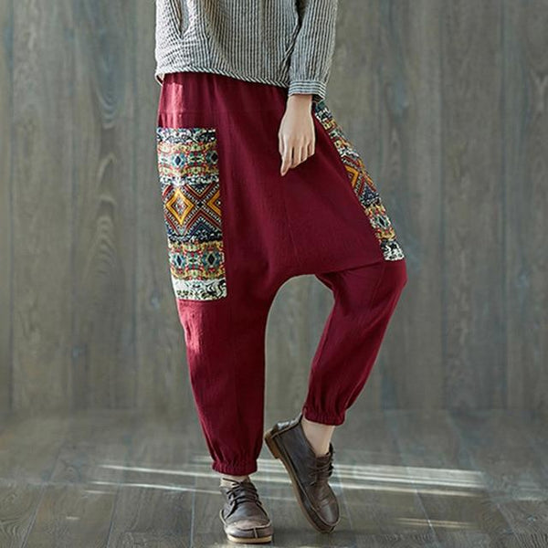Plus Size Tribal Harem Pants