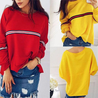 Loose Solid Color Bat Cuff Splicing Sweater