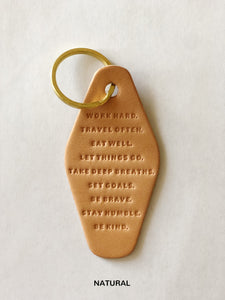 Words To Live By Keychain