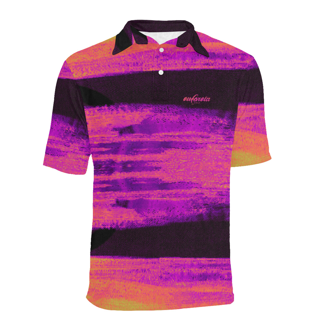 Monet inspired and abstract golf polo
