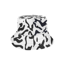 Load image into Gallery viewer, streetwear inspired bucket hat with cow print and euforeia golf logo