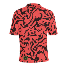 Load image into Gallery viewer, Cowabunga Camo golf polo in Electric Red