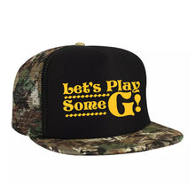 Load image into Gallery viewer, Play Some G Camo Trucker