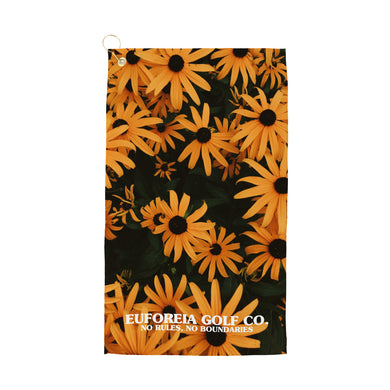 Power Flower Golf Towel