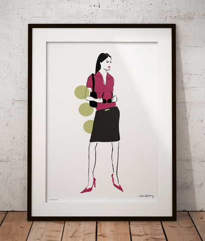 Girl in Skirt Poster