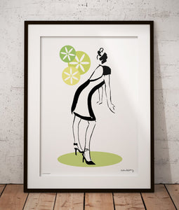 High Heels in Green Poster