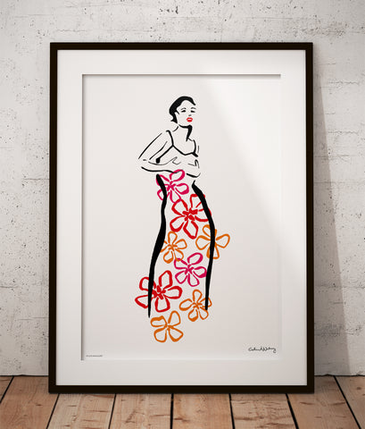 Hawaiian Dress Poster