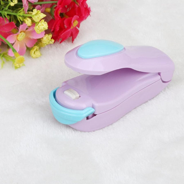 Portable Bag Clips Handheld Mini Electric Heat Sealing Machine Impulse Sealer Seal Packing Plastic Bag work with battery
