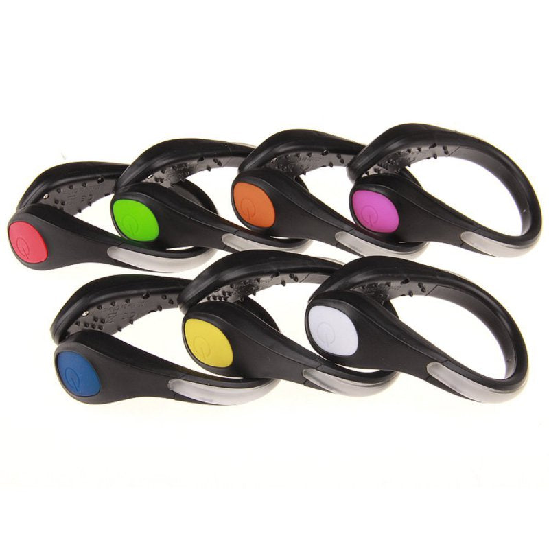 Useful Outdoor Tool LED Luminous Shoe Clip Light Night Safety Warning LED Bright Flash Light For Running Cycling Bike 1 Pcs Sale