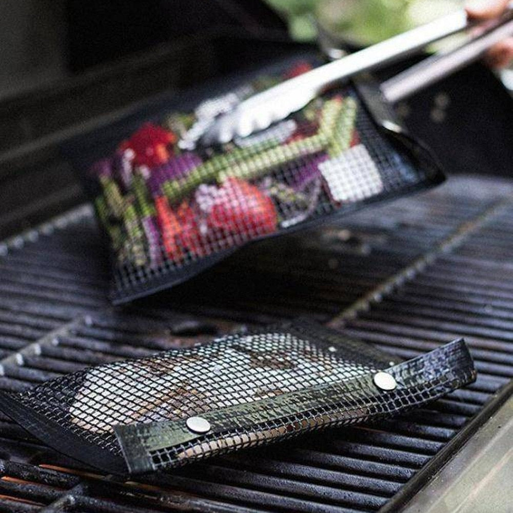 New Hot Non-Stick Mesh Grilling Bag Outdoor Picnic Tool Bolsa De Barbacoa Reusable and Easy to Clean Non-Stick BBQ Bake Bag