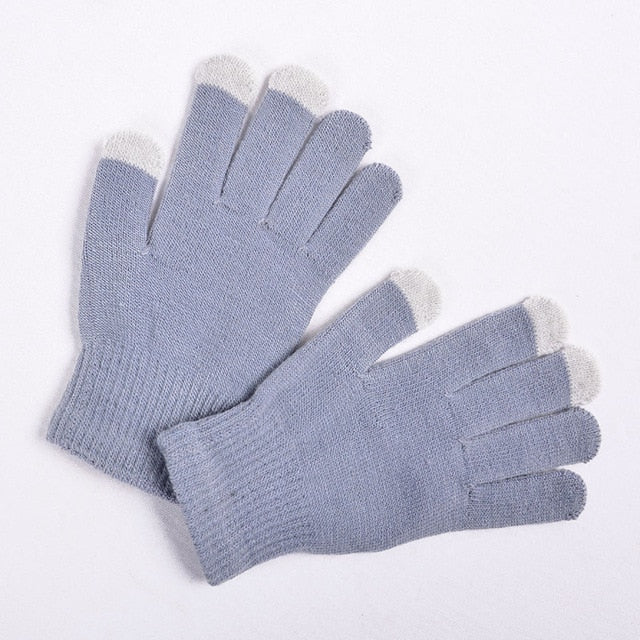 Magic Touch Screen Sensory Gloves For Women Gloves Girl Female Stretch Knit Gloves Mittens Winter Warm Accessories Wool Guantes