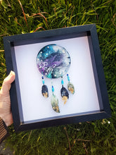 Resin art framed dream catcher