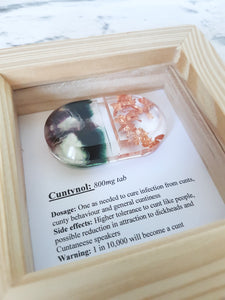 Cuntynol cunt pill gift for cunts, novelty resin art, Happy pill range