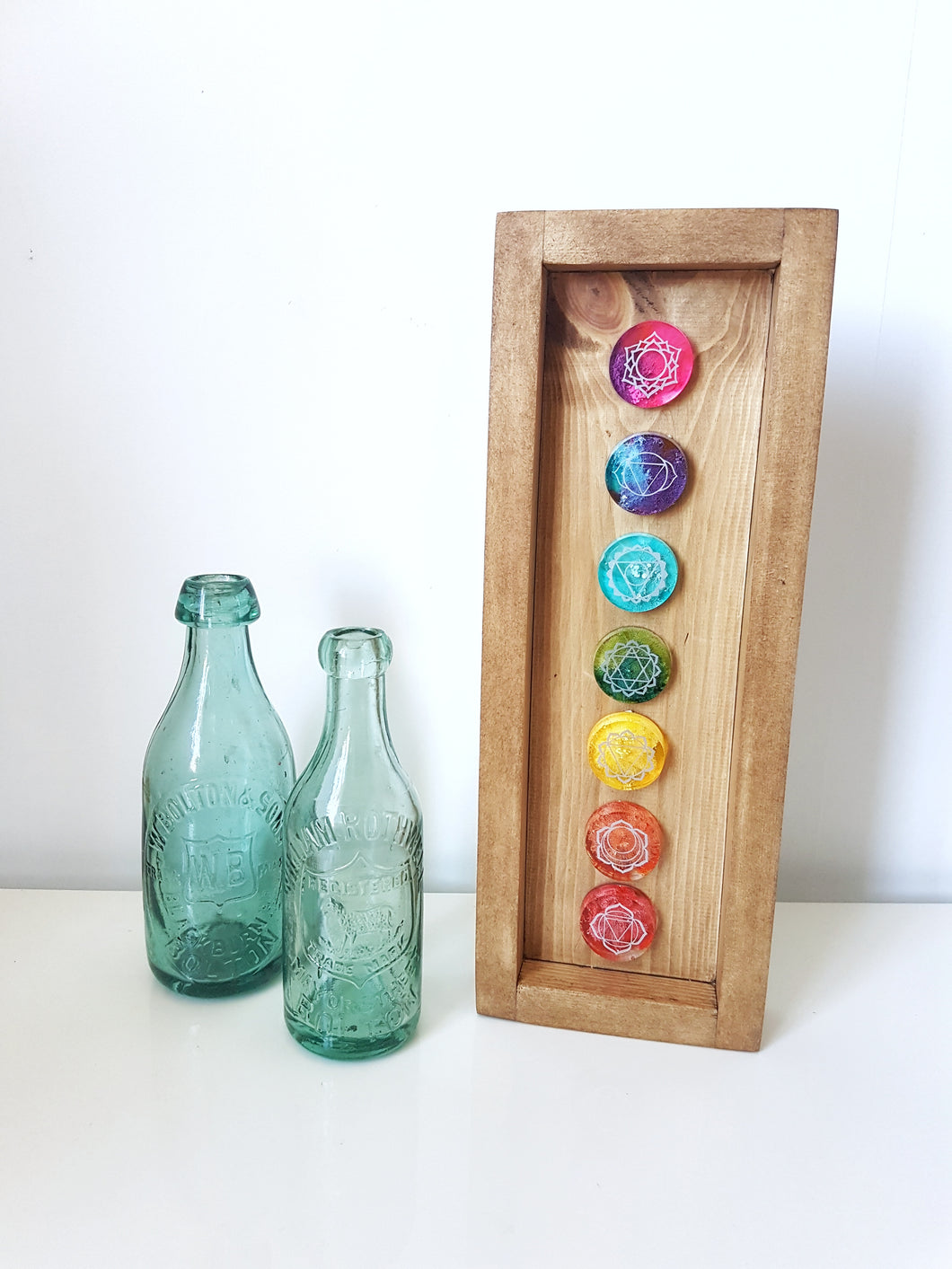 Chakra resin wall art box frame
